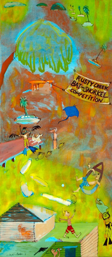 Rusty Creek Bat-Snorkel Competition large painting